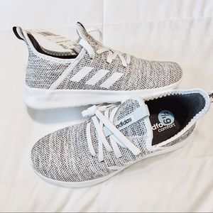 Adidas Cloudfoam Pure Trainers Gray Knit